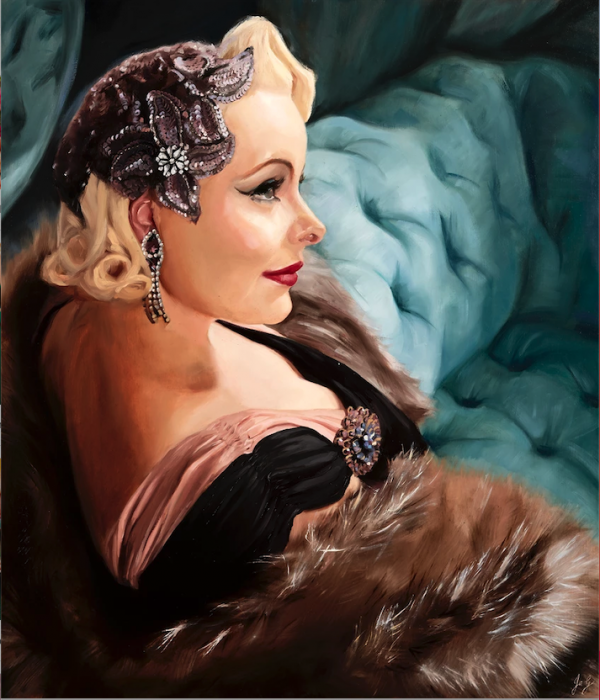 Pia Portrait Painting by Jessica Guthrie
