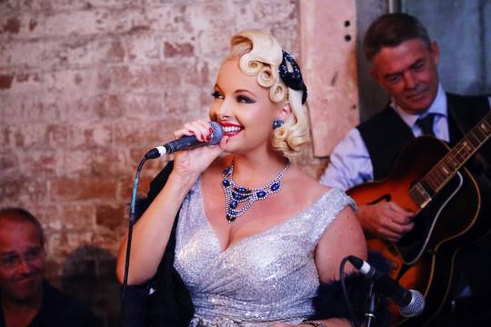 Pia Singing at Palmer & Co
