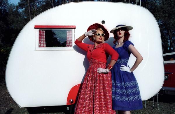 Pia and Astred 50's Fair Vintage Caravan. Photo Steven Siewert