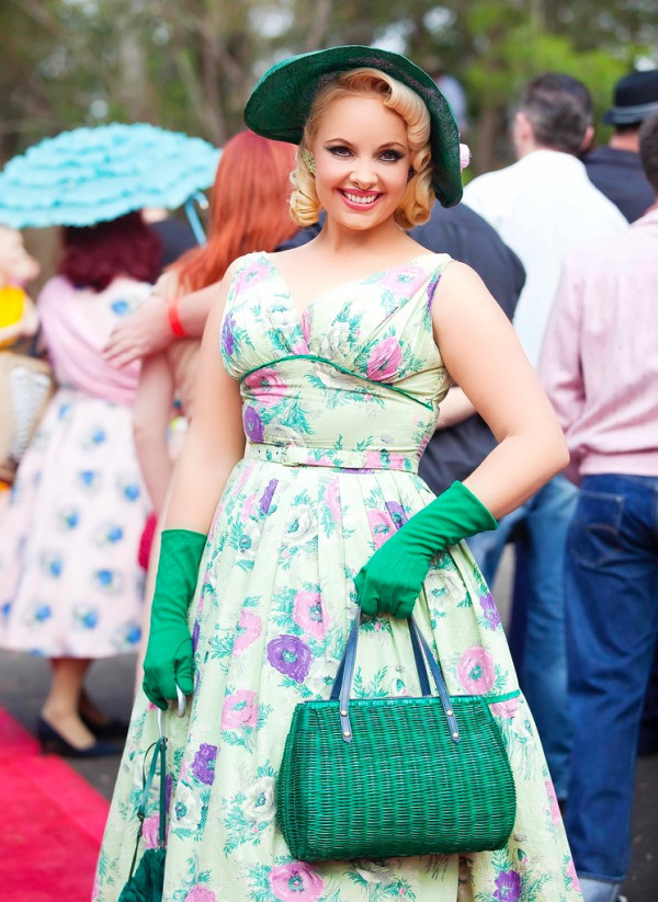 50's Fashion Pia Andersen. Photo Brent Wilson