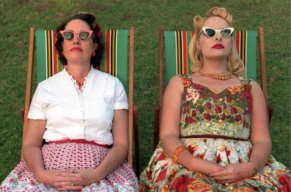 Pia and Robyn Picnic Chairs Living the 50's Exhibition. Photo Steven Siewert